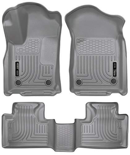 Husky Liners 99152 Fits 2016-19 Dodge Durango, 2016-19 Jeep Grand Cherokee Weatherbeater Front & 2nd Seat Floor Mats , Grey
