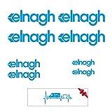 Sticker Mimo Pegatinas compatibles con ELNAGH Kit 1, accesorios para caravanas, autocaravanas, autocaravanas, autocaravanas (azul 60 cm)