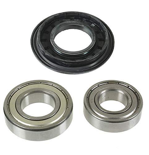 Spares2go - Kit de rodamiento de tambor y sello de aceite para lavadora Ariston 6205z 6206z