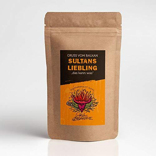 Grillanarchie Sultans Liebling - 150 g - Gruss vom Balkan - für Cevapcici, Köfte, Kebap - Hackfleisch Würzer