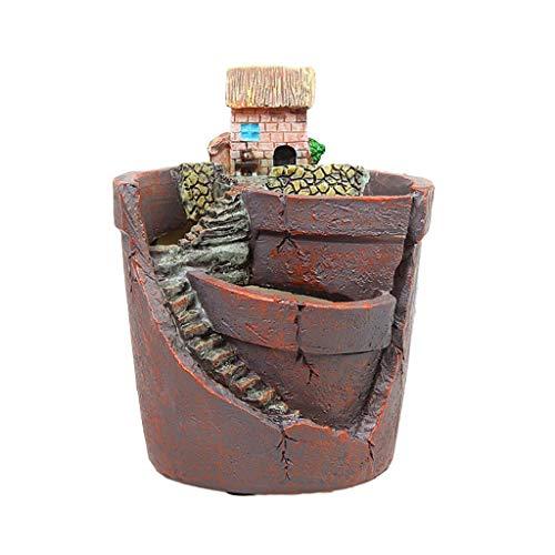 YiPong Mini statuine per casa in resina per piante grasse e erbe, cacti, fioriera per piante grasse da giardino, decorazione per paesaggi, creativa, piccola piantagione di piante