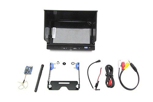 XciteRC 15001122 - FPV-Set für RC Quadrocopter Rocket 400 GPS mit 7 Zoll-Monitor, 5.8 GHz