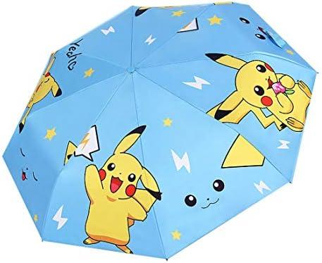 Rosavida Kids Pokemon Folding Umbrella Automatic Open Cartoon UV Protection Travel Umbrella product image