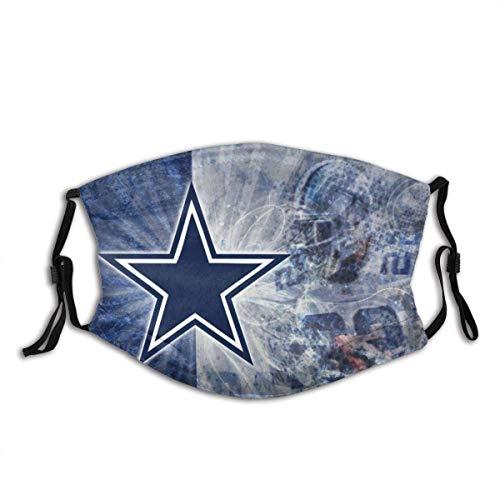 Mundschutz Dallas-Cowboys N-FL Fußball Sport 9 Unisex waschbare und Wiederverwendbare warme Baumwollgesichtsdekorationen für den Außenbereich