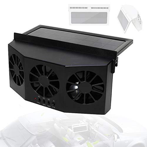 Ventilador Radiador Coche PortáTil, Reciclar Ventilador Escape Coche EnergíA Solar Ruido Bajo, Car Ventilador Radiador Enfriar Rapidamente VentilacióN Vigorosa,B