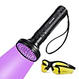 Latest 100 LEDs Linterna UV Ultravioleta LED 395nm, Flashlight Blacklight Lámpara Luz Negra Portátil Detectar Orina de Mascotas Perros Gato, Escorpión (Latest 100 LEDs)