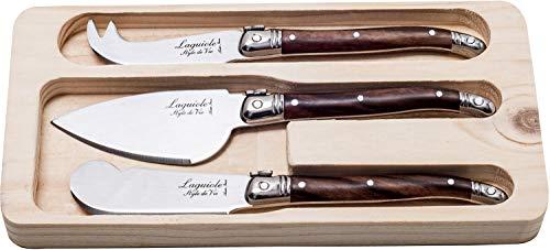 Laguiole Style de Vie Käsemesser-Set Premium Line, 3-teilig, Holzfarbe