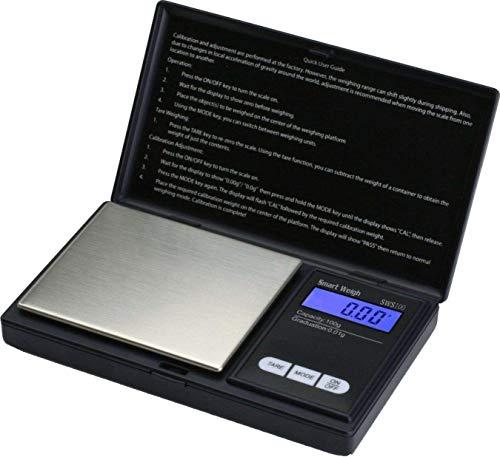 Trimming Shop Digitale tas weegschaal, draagbaar, lichtgewicht, professioneel, multifunctionele batterijvoeding, mini-schaal met backlit lcd-display voor de keuken, sieraden, edelsteen, goud