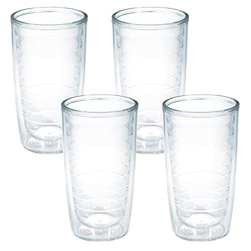 Tervis Clear & Colorful Insulated Tumbler, 16oz - 4 Pack - Boxed, Clear