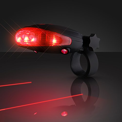 FlashingBlinkyLights Red Laser Tail Light with Bike Lane Projection