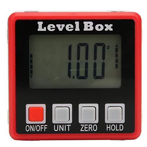 Winkelfinder Holzbearbeitung 0,1 ° Genauigkeit Abschrägungsstufe Box Hintergrundbeleuchtung Digitaler Winkelmesser für Tischkreissäge(Automatic backlight four buttons)