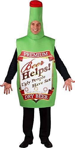 Adult Unisex Fun Beer Bottle Fancy Dress Costu