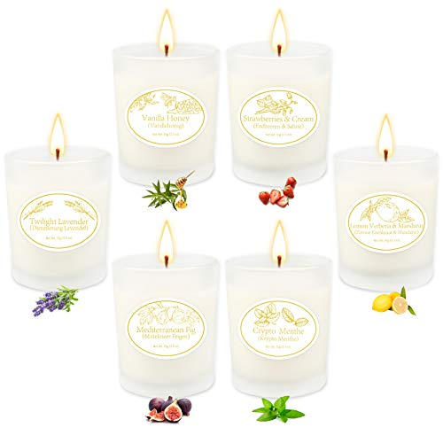 Christmas Candle Gifts for Women, 6 Scented Candles Set - Scented Candles for Home, Relaxing Stress Relief, Aromatherapy - Natural Soy Wax and Fragrance - Gifts for Mom, Best Friend, Wife, Birthday