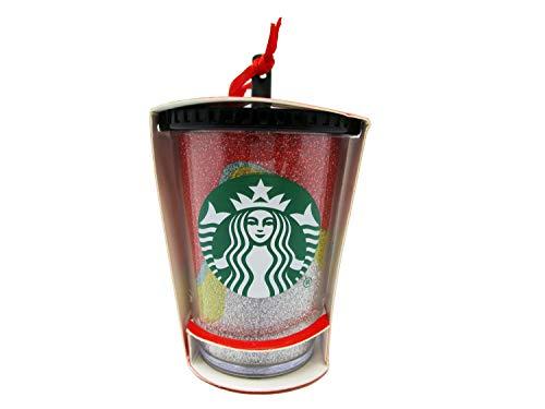 Starbucks 2018 Glitter Acrylic Cup Holiday Christmas Tree Ornament