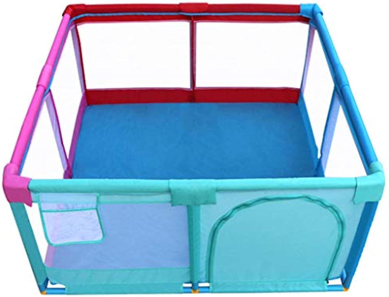 GYX-Laufgitter Oxford-Stoff Laufstall Baby Zaun Kind Sicherheit Spielplatz Waschbar Sugling Spielbereich Tür