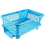 Ashoka's Mart 3 in 1 Durable Plastic Kitchen Sink Dish Drying Drainer Rack