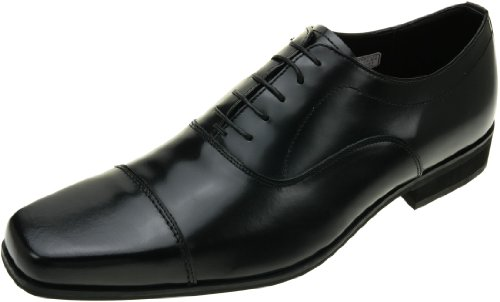 [ヒロミチナカノ] ストレートチップ ビジネスシューズ 革靴 4E 幅広 (132HACJ) BLACK (ブラック) 大きいサイズ リーガルコーポレーション 日本製 (28.5cm (4E), BLACK (ブラック))