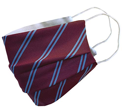 Claret & Blue Striped Football Face Mask