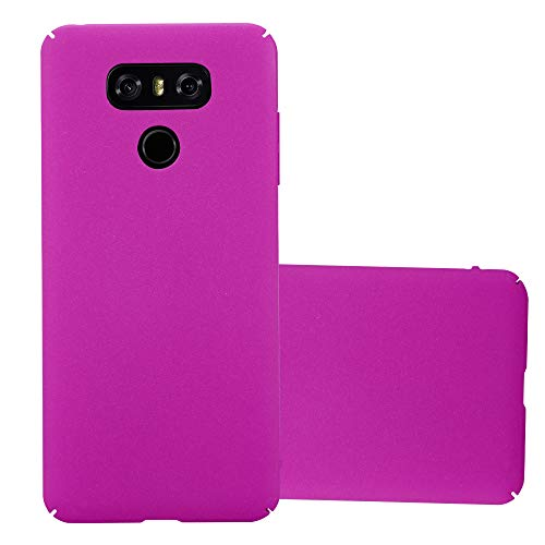 Cadorabo Custodia per LG G6 in FROSTY ROSA - Rigida Cover Protettiva Sottile con Bordo Protezione - Back Hard Case Ultra Slim Bumper Antiurto Guscio Plastica