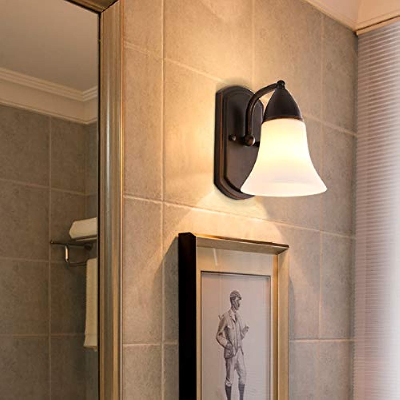 StiefelU LED Leiter der bed Wandleuchte Schlafzimmer Bügeleisen Lampen Wandleuchten Hotel Zimmer weg von der Strae Flur Hyun, L 56 Single Head + 9 Watt-LED gelb leuchtet