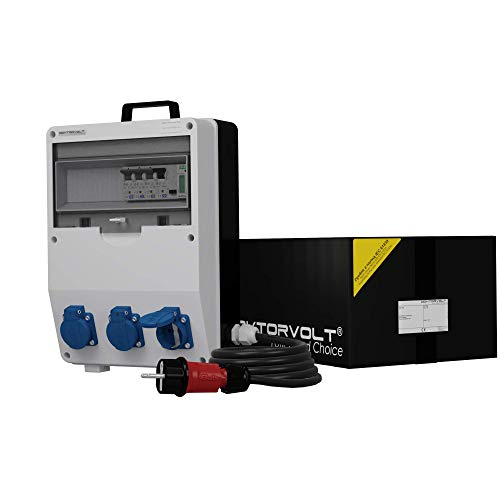Stromverteiler TD-S/FI 3x230V SKH mit Kabel Stromzähler MID Baustromverteiler Doktorvolt 9856