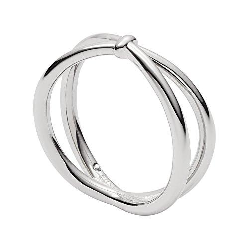 Fossil Damen Ringe Edelstahl Ringgröße 54 (17.2) JF02867040-6.5