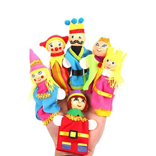 Toyvian fingerpuppe Set Familie royal für Baby Kinder Geschichte Zeit spielzeit 6 stück