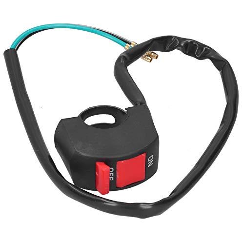 Interruptor de manillar de motocicleta Interruptor de luz de manillar de motocicleta Universal Botón de encendido y apagado Impermeable para ATV UTV Scooter 7/8 pulgadas
