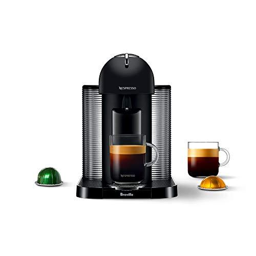 Breville-Nespresso USA BNV220BKM1BUC1 Vertuo Coffee and Espresso Machine, Matte Black, 10.75 x 14 x 14.5 in