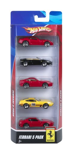 Hot Wheels Mattel - N0490 - Voiture Miniature Ferrari 5 Pack