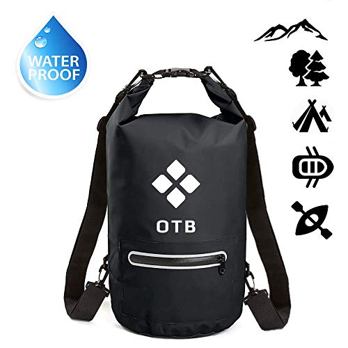Waterproof Dry Bag 20L   Lightweight and Roll Top Dry Compression Sack with Zip Pocket   Best for Travel, Kayaking, Beach, Rafting, Boating, Hiking, Camping and Fishing