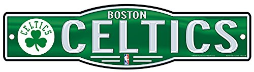 WinCraft NBA Boston Celtics 4''x17'' inch Novelty Plastic Street Sign