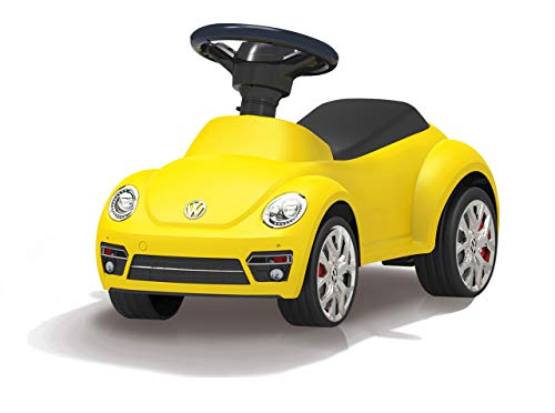 Jamara 460408 Rutscher VW Beetle - Kippschutz, Hupe am Lenkrad, originalgetreue Optik, gelb
