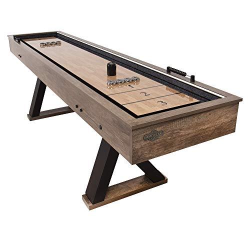 American Legend Kirkwood 9' LED Light Up Shuffleboard Table with Bowling (AL5001W)