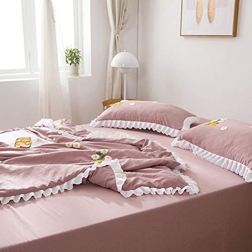 Colcha de Hotel de Dormitorio de Cuatro Estaciones de Color Puro, sábanas Lisas de Terciopelo ártico, Ropa de Cama Familiar, sábanas de 160 * 230 cm