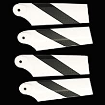 Accessories 2Pairs 92mm Carbon Fiber Tail Rotor Blades for Trex Align 550 600 RC Helicopter