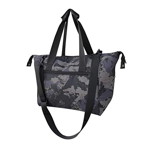Large Insulated Shopping Bag with Removable Lining Leakproof Camo Print Converts to a Handbag Carry Tote Adjustable Shoulder Strap For Grocery, Picnics, Beach (Camo)