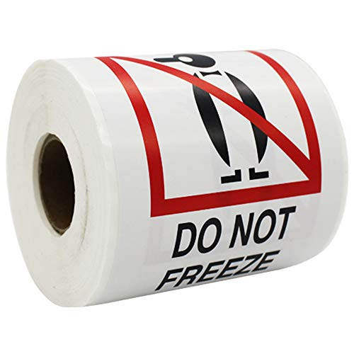 Shipping Label Do Not Freeze Message, 4