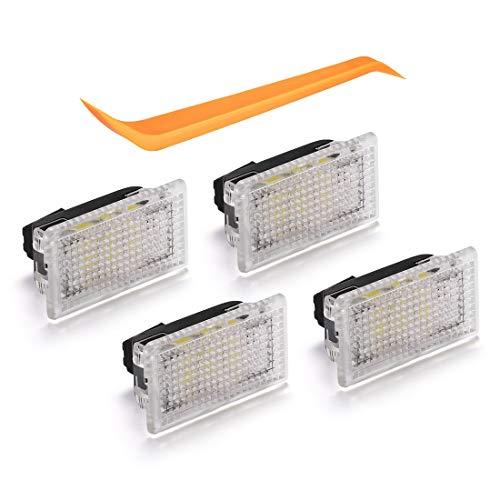 BougeRV Juego de bombillas de luces LED interiores ultrabrillantes de reemplazo F¨¢cil de conectar con herramienta de palanca Adecuado para Tesla Modelo 3 / Modelo S/Modelo X (paquete de 4)