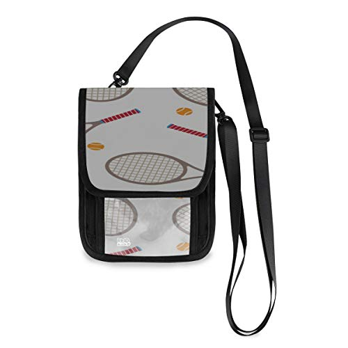 Badminton Racket And Tennis Racket Passport Holders For Kids Custom Lightweight Travel Wallet Kids With A Long Strap Best Passport Wallet For Travel Passport Wallet Phone Holder