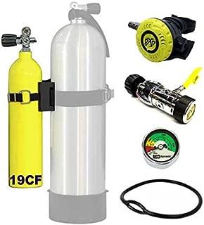 DXDiver Bailout Pony Bottle Kit with Problue Pony Bracket 19 cf Tank Gauge Regulator Spare Backup Air Scuba Dive Egressor