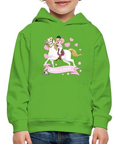 Schleich Horse Club Sofia & Blossom reiten aus Kinder Premium Hoodie, 110-116, Hellgrün