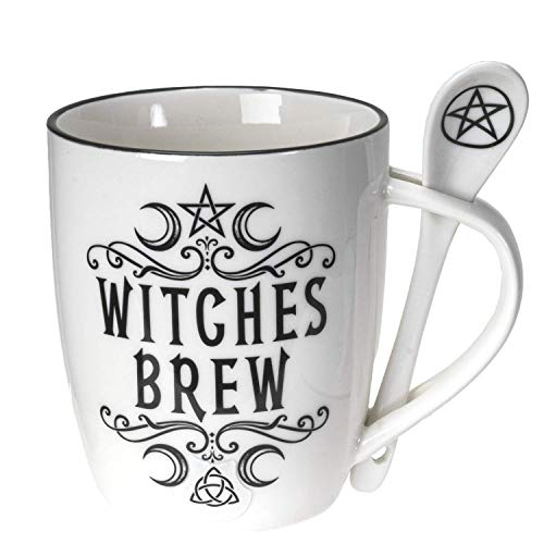Witches Brew Occult Bone China Mug and Spoon Set