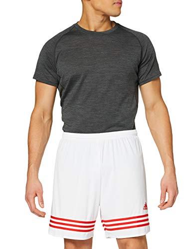 adidas Entrada 14 Sho, Pantaloni Uomo, Bianco/Rosso, XL
