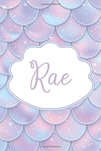 Rae: Personalized Name Journal Mermaid Writing Notebook For Girls and Women