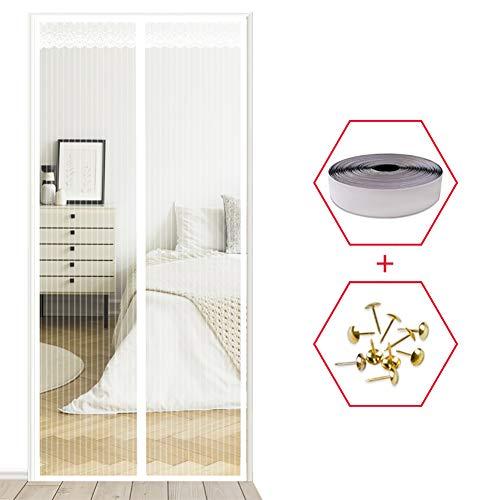 YXDDG Sofortige fliegengitter für Hunde Schwerer netzvorhang Katze Beweis Guard Anti-moskito-Magie mesh Full-Frame-Balkon-Design-Weiß 100x200cm(39x79inch)
