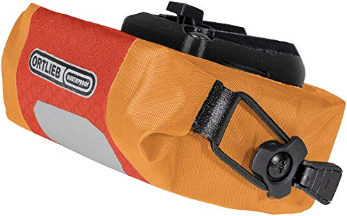 Ortlieb Unisex-Adult Micro Two Satteltasche, signalrot-orange 0,5 l, One Size