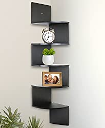 Greenco 5 Tier Wall Mount Corner Shelves - Best Shed Bar Ideas