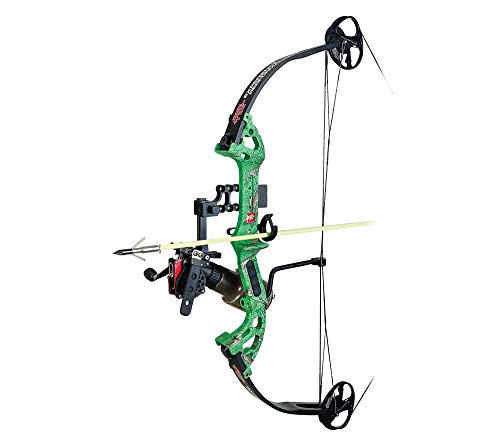 PSE Discovery Right Hand DK'd Green Camo 40lb AMS Bowfishing Bow Package