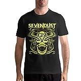Sevendust Shirt Man Soft Classic Short Sleeve O Neck Cotton Tees Tops XL Black